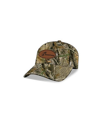 Camo Cap with Leather Patch