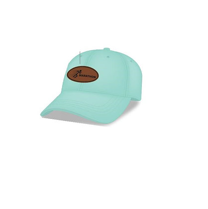 Unstructured Womens Cap Mint with Leather Patch