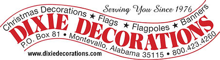 Dixie Decorations, Christmas, banners, flags and flagpoles