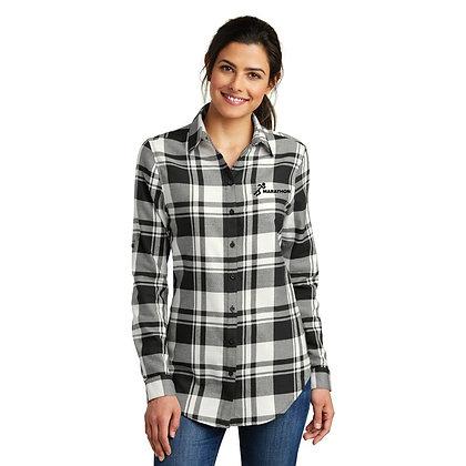 Flannel Tunic  Black/White LW668