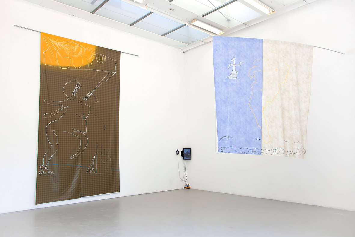 catherine biocca animated paintings flag painting rijksakademie amsterdam project space south
