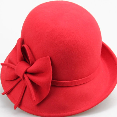 Big Bow Felt Cloche