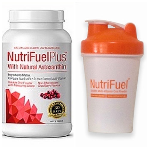 SURVIVAL SPECIAL - NUTRIFUEL PLUS MULTI POWDER with ASTAXANTHIN & FREE SHAKER
