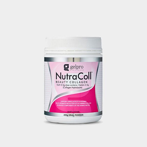 NUTRACOLL BEAUTY COLLAGEN - 250grams SOLUBLE ORAL POWDER 2.5g/day