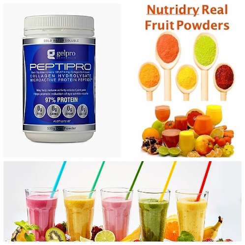 PEPTIPRO PROTEIN & NUTRIDRY FRUIT POWDERED COMBO PACK