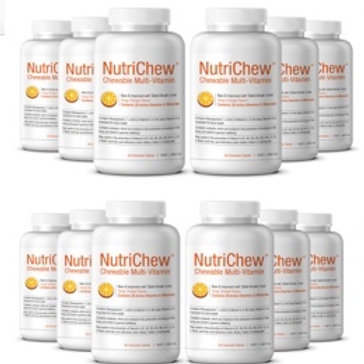 SPECIAL 2020 OFFER - 12 X Bottles NUTRICHEW  + 258 Pg Wt Loss Nutrition Bk