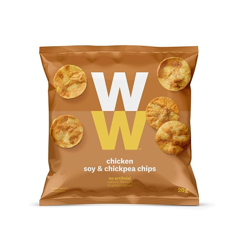 WEIGHT WATCHERS CHICKEN, SOY & CHICKPEA CHIPS - 3 X 20gm BAGS