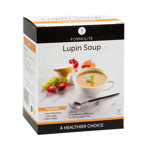 FORMULITE DELICIOUS VEGETABLE LUPIN SOUP MIX:  7 SACHETS