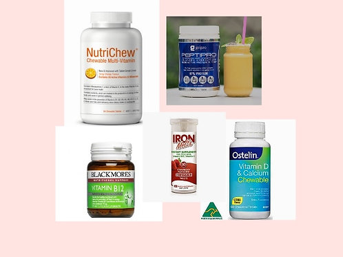 BARIATRIC BUNDLE BASIC WITH NUTRICHEW MULTIVITAMINS PLUS MORE