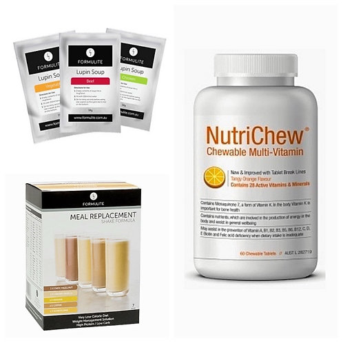 NUTRICHEW CHEWABLE MULTI + FORMULITE LUPIN SOUP & SHAKE SAMPLE BOX