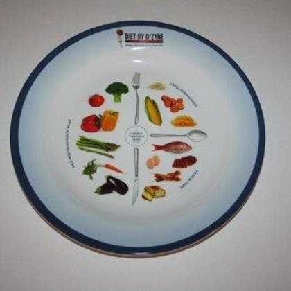 PORTION CONTROL PLATE - LARGE - MELEMINE