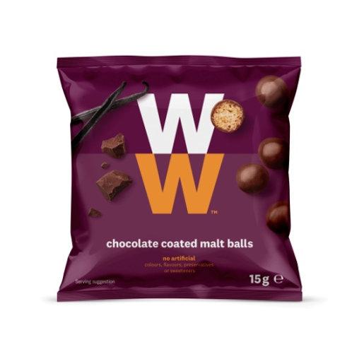 WEIGHT WATCHERS CHOCOLATE COATED MALT BALLS
