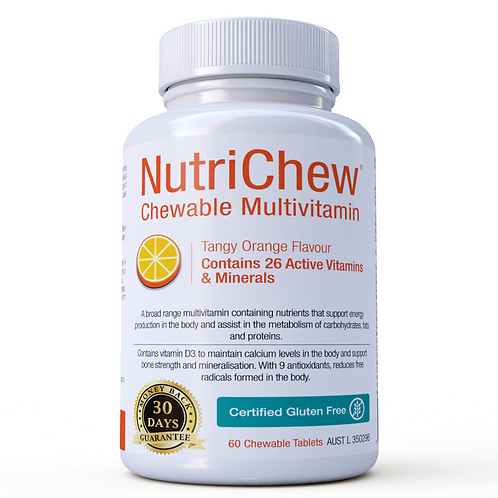 NUTRICHEW CHEWABLE MULTIVIT/MULTIMIN (60 TABLETS) CERTIFIED GLUTEN FREE