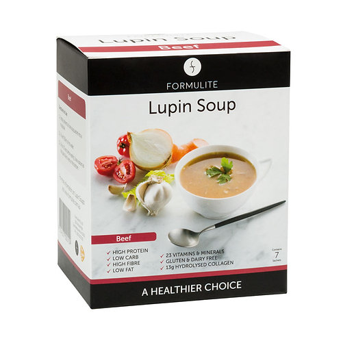 FORMULITE DELICIOUS BEEF LUPIN SOUP MIX:  7 SACHETS