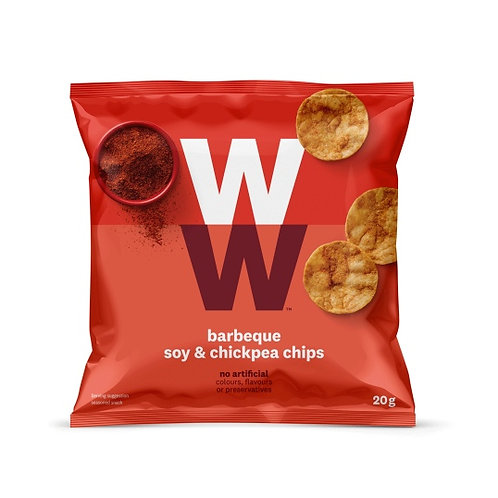 WEIGHT WATCHERS BBQ, SOY & CHICKPEA CHIPS - 3 X 20gm BAGS