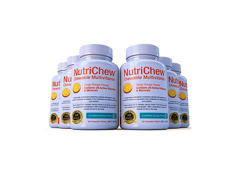 NUTRICHEW CHEWABLE MULTIVITAMIN/MULTIMINERAL  (60 Tablets X 6 Bottles)