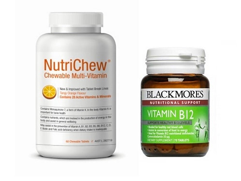 BARIATRIC 'SLEEVERS' VALUE PACK - NUTRICHEW CHEWABLE MULTI & BLACKMORES B12