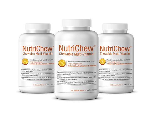 NUTRICHEW CHEWABLE MULTI - 60 Tablets/Btl - 3 Bottles