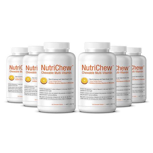 NutriChew®Chewable Multivitamin/Multimineral - 60/Btl - 6 Bottles + FREE Freight
