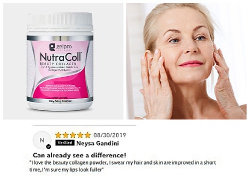 NUTRACOL SOLUBLE BEAUTY COLLAGEN 250gram TUB (100 days supply)