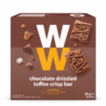 WEIGHT WATCHERS CHOCOLATE DRIZELED TOFFEE CRISP BARS