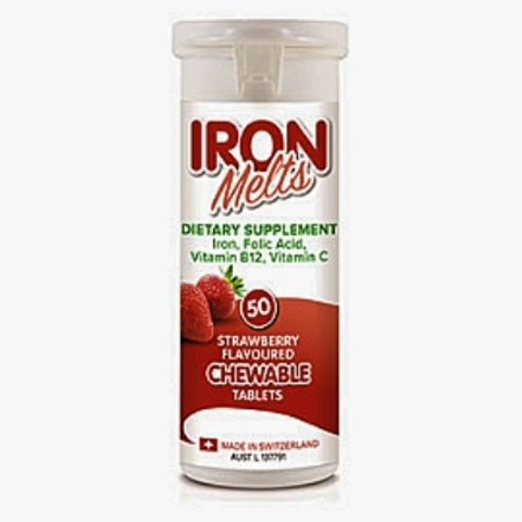 IRON MELTS - 50 CHEWABLE TABLETS