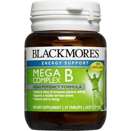 BLACKMORES VIT B MEGA COMPLEX - 31 Tablets/Btl