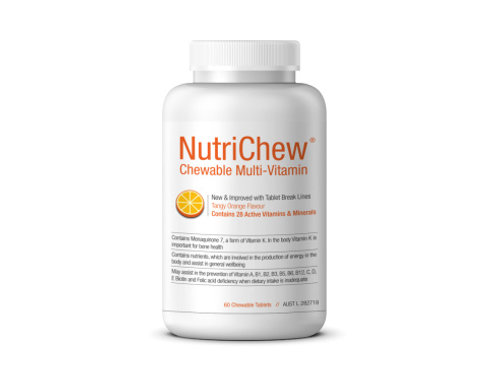 NUTRICHEW CHEWABLE MULTI - 60 Tablets/Btl - 1 Bottle