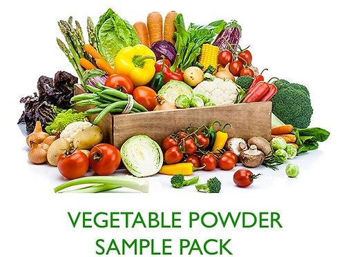 NUTRIDRY* DEHYDRATED VEGETABLE POWDER SAMPLE PACKS - 5X10gram Samples