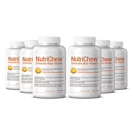 NUTRICHEW CHEWABLE MULTIVITAMIN/MULTIMINERAL  (60 Tablets X 6 Bottles)