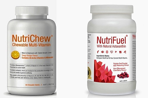 NUTRIFUEL PLUS with ASTAXANTHIN + NUTRICHEW CHEWABLE (1 Btl Each) COMBO PACK