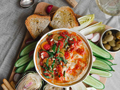 White Bean Hummus, Roasted Tomatoes and Wild Garlic Bowl