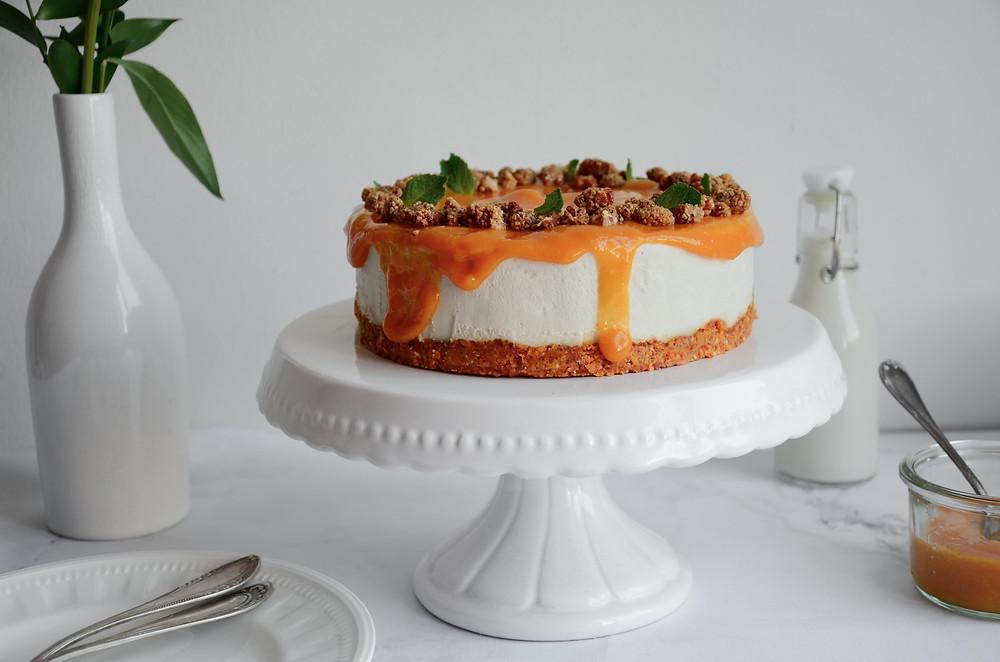 vegan raw mango cheesecake