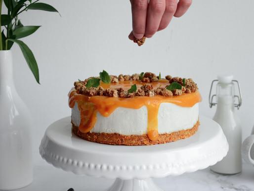 No-bake Vegan Mango Cheesecake