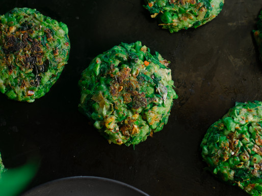Green Pea and Spinach Falafel