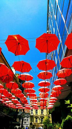 CLP - Red umbrellas in the air - h960 -
