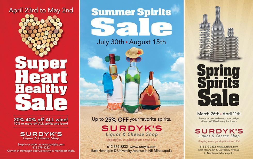 Surdyk's Print Ad Series