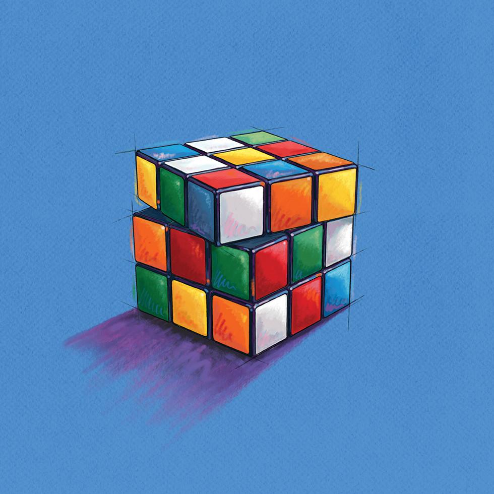 Print Ad Series - Rubik's Cube