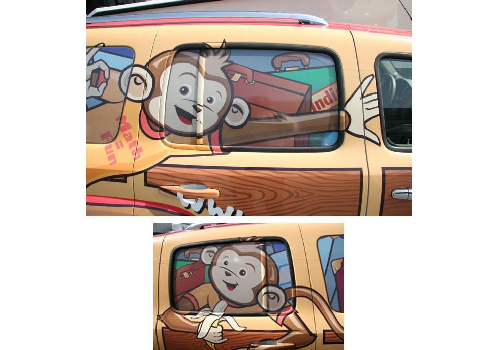 Math Monkey Woody Van Detail
