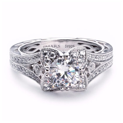 .46 ct 14k Halo Diamond Engagement Ring