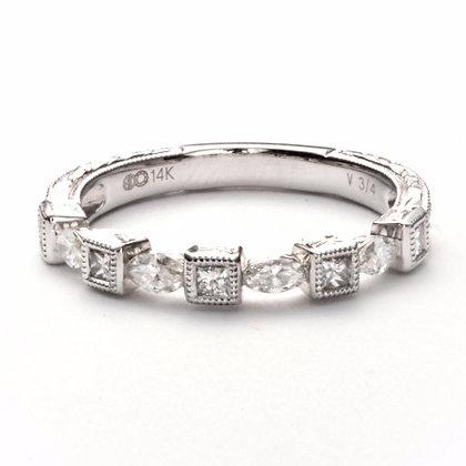 14k white gold .45 ctw diamond ring