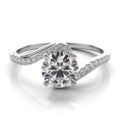 Bypass Engagement Ring .14ctw