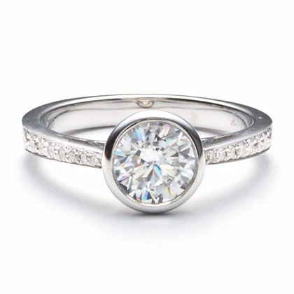 .15 ctw White Gold Diamond Engagement Ring