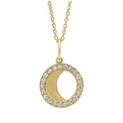 .10 ctw Diamond Yellow Moon Necklace