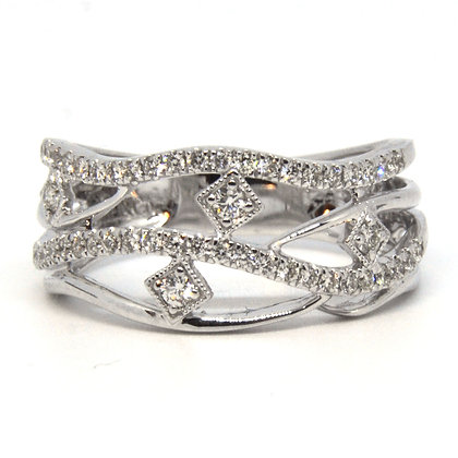 White Gold 0.38 ctw Diamond Ring