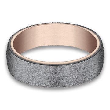 6.5 mm 14k Rose Gold & Tantalum Band