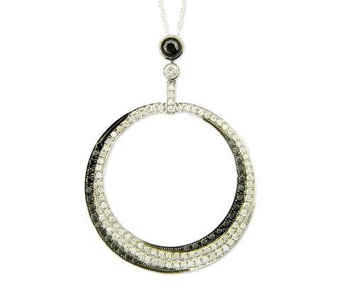 .80 ctw Black and White Diamond Pendant
