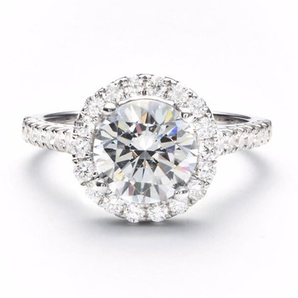 .62 ctw White Gold Diamond Engagement Ring