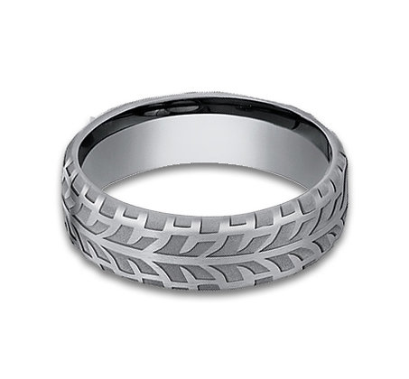 6.5 mm Flat Band with Tread Design