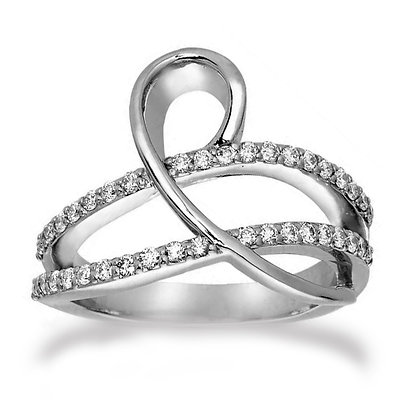 14k White Gold .50ct. Diamond Ring